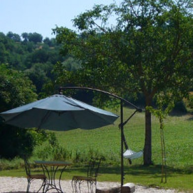 The field behing Le Marche rental property san Raffaello