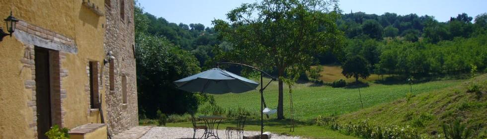 Le Marche rental property garden san Raffaello