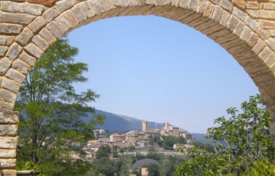 the view from marche villa san raffaello cortile