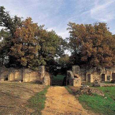 urbisaglia roman site le marche italy