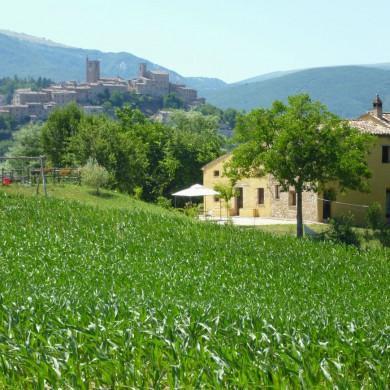 Sarnano from Villa San Raffaello