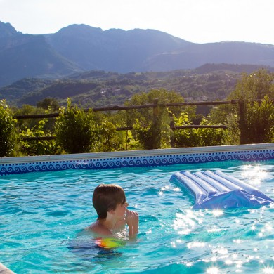 big pool at Villa SR Marche Italy