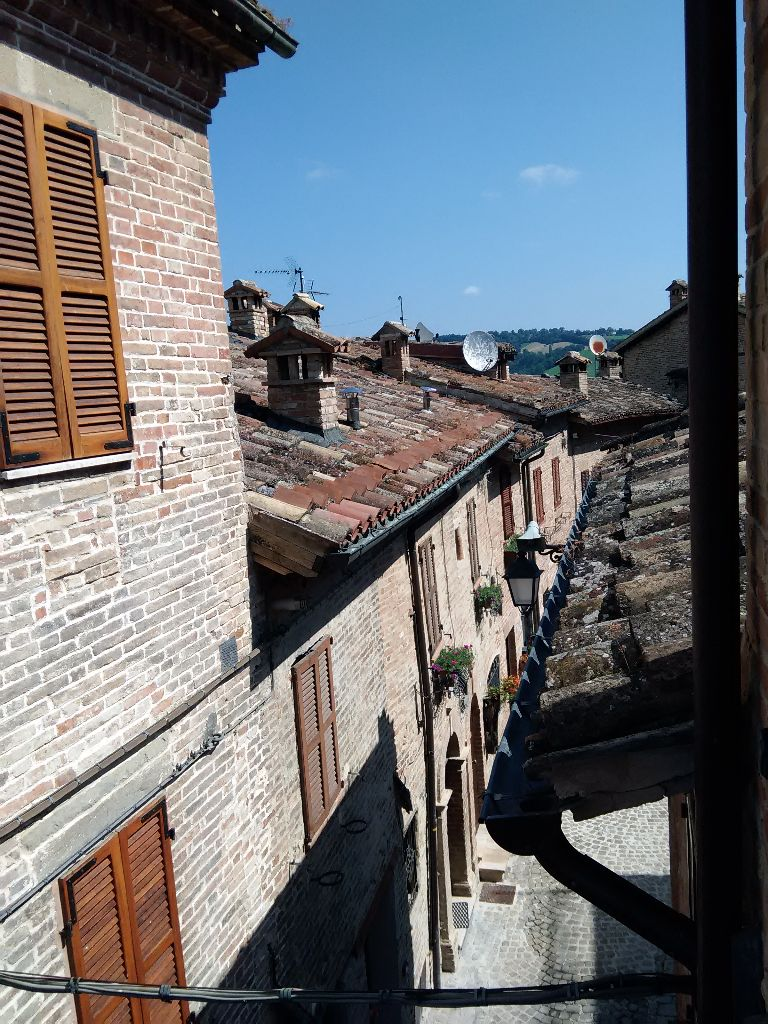 Rooftop view Sarnano Le Marche ITaly
